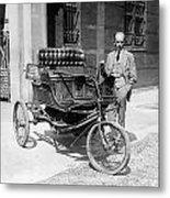 Three-wheel Automobile Metal Print