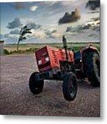 Three Wheeled Tractor Metal Print