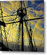 Through The Rigging Metal Print