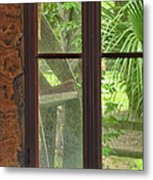 Through The Window Back In Time Metal Print