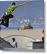 Throwing Caution To The Wind Metal Print