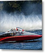 Thunder At The Lake Metal Print