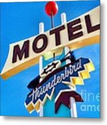 Thunderbird Motel Sign Metal Print