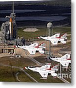 Thunderbirds Fly Past Endeavour Metal Print