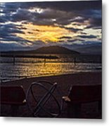 Thunderstorms At Sunrise Metal Print