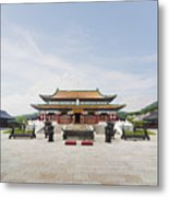 Tianmen Temple In Tianmen Forest National Park Metal Print
