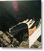 Tibetan Buddhist Prayer Flags Metal Print by Gordon Wiltsie