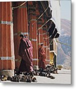 Tibetan Monks At Sera Metal Print