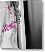 Tickled Pink Metal Print