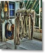 Tied Up Lines Metal Print by Michael Thomas