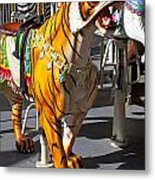Tiger Carousel Ride Metal Print