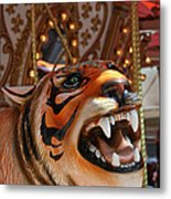 Tiger Merry Go Round Animal Metal Print