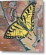 Tiger Swallowtail Metal Print by Amy Reisland-Speer