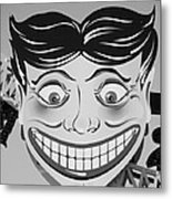 Tillie The Clown Of Coney Island In Black And White Metal Print