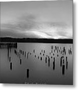 Tiltow Beach  In Black And White Metal Print by Sarai Rachel