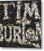 Tim Burton Poster Collection Mosaic Metal Print