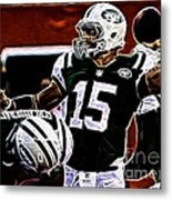 Tim Tebow  -  Ny Jets Quarterback Metal Print by Paul Ward