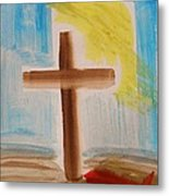 Tim Tebow's Cross-easter Monday Metal Print