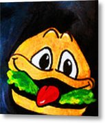 Time For A Happy Burger Metal Print