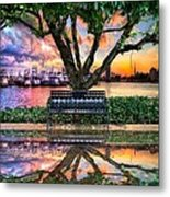 Time For Reflection Metal Print by Debra and Dave Vanderlaan