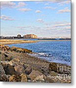 Time-honored New England Coast Metal Print by Extrospection Art
