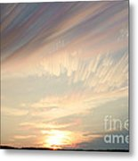 Time-lapse Clouds At Sunset Metal Print