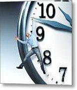 Time Problem Metal Print