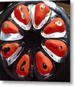 Orange And Black Art -time - Sharon Cummings Metal Print