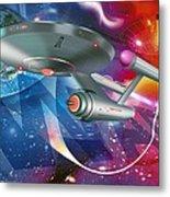 Time Travelling Spacecraft, Artwork Metal Print