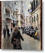 Time Warp In Malaga Metal Print