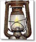 Time Worn Kerosene Lamp Metal Print