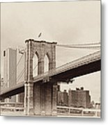 Timeless-brooklyn Bridge Metal Print