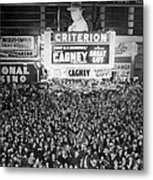 Times Square Election Crowds Metal Print