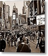 Times Square New York S Metal Print