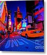 Times Square Nitelife Metal Print
