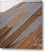 Rusted Patchwork Metal Print