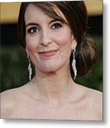 Tina Fey At Arrivals For 17th Annual Metal Print by Everett
