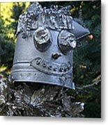 Tinman Scarecrow Metal Print