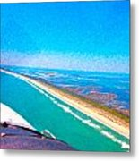 Tiny Airplane Big View II Metal Print