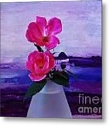 Tiny Rose Bouquet Metal Print