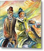 Together Old In Morocco 02 Metal Print