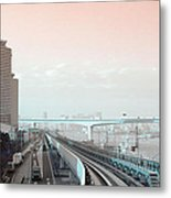 Tokyo Train Ride 3 Metal Print by Naxart Studio