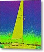 Tom Ray's Sailboat Metal Print