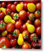 Tomatoes Background Metal Print