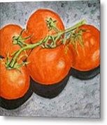 Tomatoes Metal Print by Linda Pope