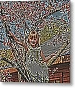 Tomboy In The Tree Metal Print by Randall Branham
