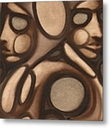 Tommervik Abstract Figures Metal Print