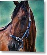 Tommy - Horse Painting Metal Print