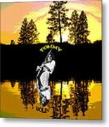 Amber Lake #3 Metal Print
