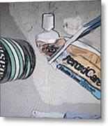 Toothpaste Metal Print